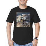 Black footed ferrets hunting Fitted T-shirts (Dark)