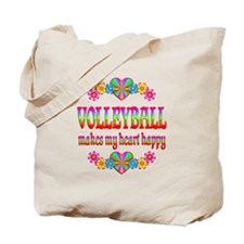 Volleyball Happy Tote Bag