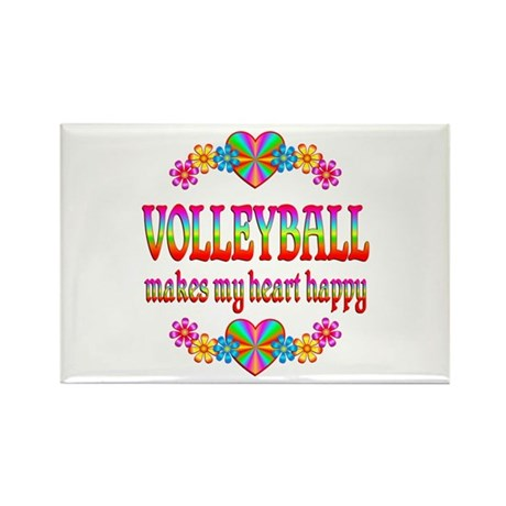 Volleyball Happy Rectangle Magnet (100 pack)