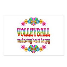 Volleyball Happy Postcards (Package of 8)