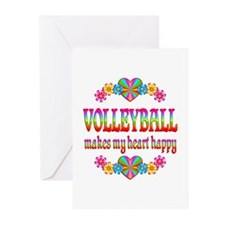 Volleyball Happy Greeting Cards (Pk of 10)
