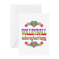 Volleyball Happy Greeting Card