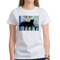 Black Cat on the Porch Tee