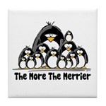 The More.. Penguin Group Tile Coaster