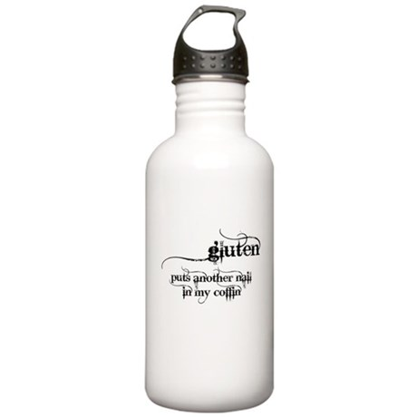 gluten...nail in my coffin Stainless Water Bottle