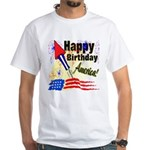 4th of July White T-Shirt