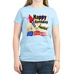 4th of July Women's Pink T-Shirt