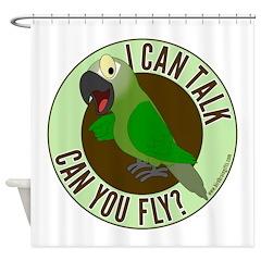 ICT,CYF Dusky Conure Shower Curtain