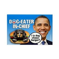 Dog-Eater in Chief Rectangle Magnet