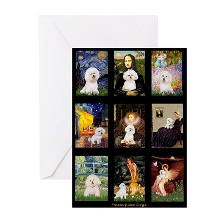 Bichon Masterpieces (A) Greeting Cards (Pk of 10)