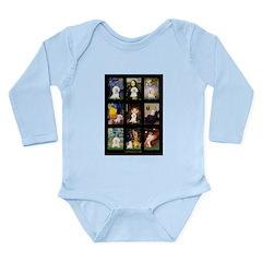 Bichon Masterpieces (A) Long Sleeve Infant Bodysui