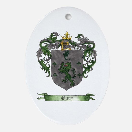 Gary Shield of Arms Oval Ornament