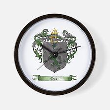 Gary Shield of Arms Wall Clock