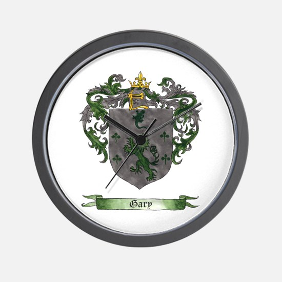 Gary Shield of Arms Wall Clock