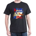 4th of July Black T-Shirt