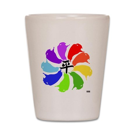 WMM BISON PEACE PALETTE Shot Glass