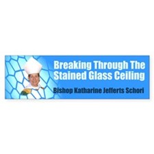 STAINED GLASS CEILING Bumper Bumper Sticker