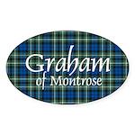 Tartan - Graham of Montrose Sticker (Oval 10 pk)