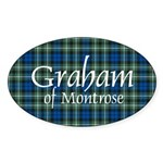 Tartan - Graham of Montrose Sticker (Oval 50 pk)