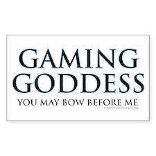 Gaming Goddess Rectangle Decal