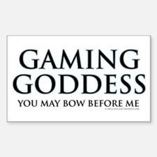 Gaming Goddess Rectangle Decal
