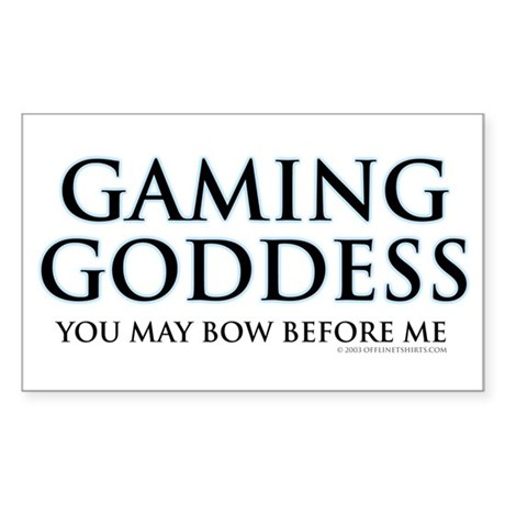 Gaming Goddess Rectangle Sticker