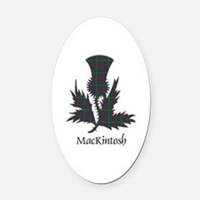 Thistle-MacKintosh hunting Oval Car Magnet