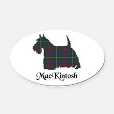 Terrier-MacKintosh hunting Oval Car Magnet