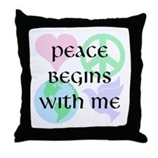Peace Begins With Me Throw Pillow