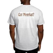 """""""Meerkat #11"""" Ash Grey T-Shirt"""