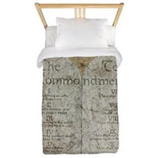 Ten Commandments 10 Laws Desi Twin Duvet