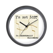 Directionally Challenged Wall Clock