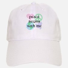Peace Begins With Me Baseball Baseball Cap