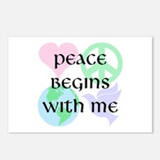 Peace Begins With Me Postcards (Package of 8)