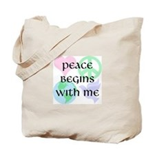 Peace Begins With Me Tote Bag