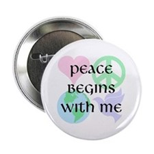 "Peace Begins With Me 2.25"" Button (10 pack)"