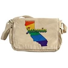 Jasmin, California. Gay Pride Messenger Bag