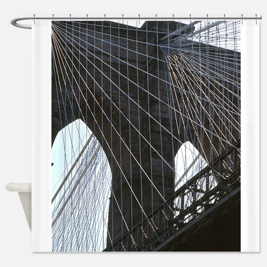 Brooklyn Bridge: Cables Shower Curtain