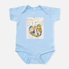 Anatomy Shirt - 'Heart' Infant Creeper