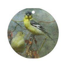 Goldfinch Pair Ornament (Round)