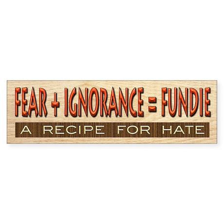 Fundie Hate | AtheistScientist Sticker (Bumper)