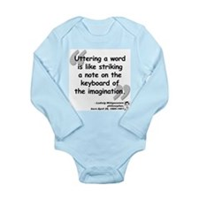 Wittgenstein Word Quote Long Sleeve Infant Bodysui