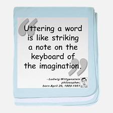 Wittgenstein Word Quote baby blanket