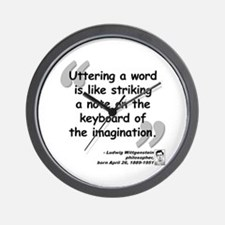 Wittgenstein Word Quote Wall Clock
