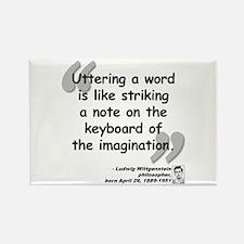 Wittgenstein Word Quote Rectangle Magnet