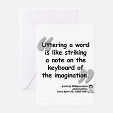 Wittgenstein Word Quote Greeting Cards (Pk of 10)