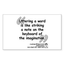 Wittgenstein Word Quote Decal