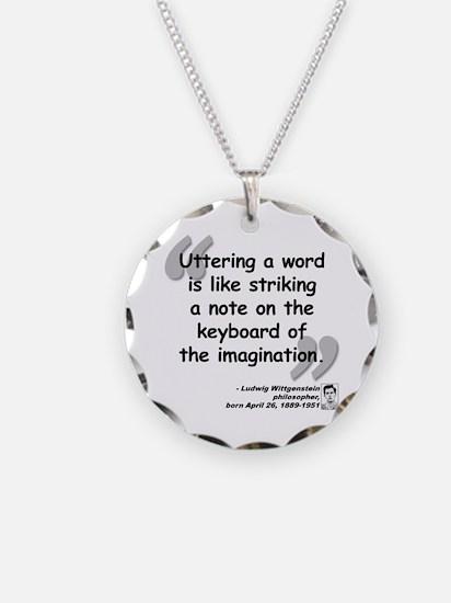 Wittgenstein Word Quote Necklace