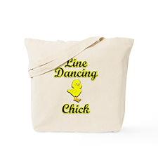 Line Dancing Chick Tote Bag