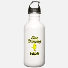 Line Dancing Chick Water Bottle